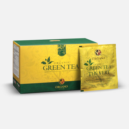 Green tea with ganoderma